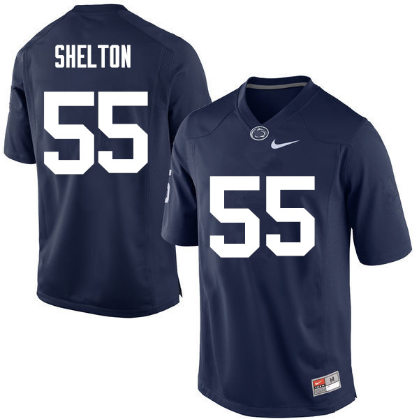 Men Penn State Nittany Lions #55 Antonio Shelton College Football Jerseys-Navy